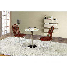 High Gloss White Round Cafe Table and Chairs (FOH-BCA38)