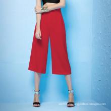 Летняя осень Новый дизайн Высокая талия Палаццо штаны Купированные брюки