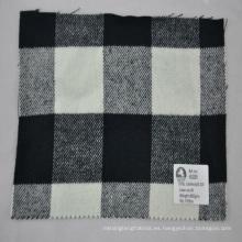 revise la tela de acrílico de cachemira de la capa de lana de la calidad fina
