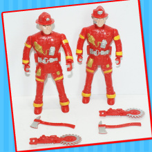 Plasitc Fire Tool Engineer Man Robot Toy with Candy