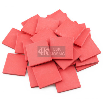 Red Ceramic Block Pieces for Mosaic Projects