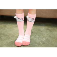 Lovely chirldren algodão meias boa qualidade meias para crianças urso e coelho meias aconchegantes padrões