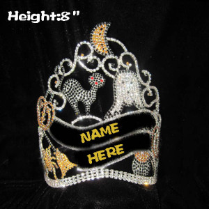 Coronas de calabaza de Halloween personalizadas de 8 pulgadas con fantasma