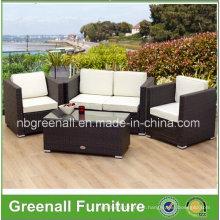 PE Rattan Wicker Sofá Mobília de jardim ao ar livre
