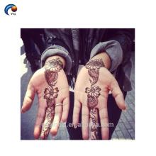 Hand Henna stencil Sticker Tatuagem, tatuagem corporal temporária com material ecológico