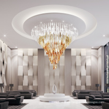 Modern murano style customizable luxury crystal glass chandeliers pendent lights