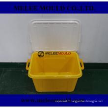 Boîte en plastique de récipient de couvercle de Melee avec le moulage de poignée
