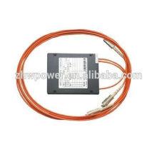 China fabricante del cassette tipo FBT MM 62.5 / 125 1 * 2 divisor óptico para 1.5m con el conectador del fc del st lc del st