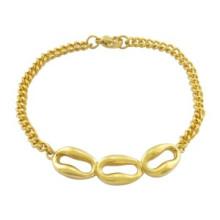 Moda grande ouro jóias pulseira mulheres