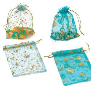 Low cost drawstring wedding candy organza bag