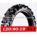 Deep tread pattern motorcycle tyres