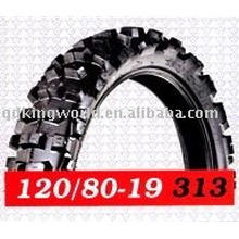 Deep tread pattern motorcycle tyres