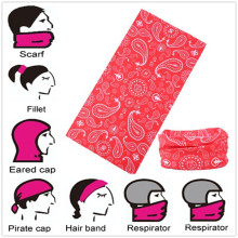 Custom Design Microfiber Seamless Buff Style Multifunctional Magic Neck Tube Buff Headwear