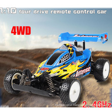 RC Car - 1/10th Scale 4WD Battery Powered off-Road Buggy - Booster