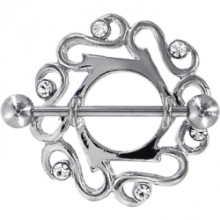 Crystalline Gem Cute Celtic Nipple Shield