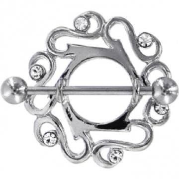 Crystalline Gem Cute Celtic Nipple Shield