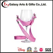 Custom PVC Polyester Wine Glass Holder Lanyard for Business