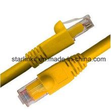 CAT6A Snagless неэкранированный сетевой патч-кабель UTP 10 Gigabit Yellow
