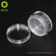 Corps décoratif gommage bocaux rond en plastique cosmétique en vrac poudre vide personnalisé bouteille poudre cosmétique rock jar