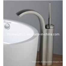 Nickel gebürstet Einhand-Waschtischarmatur (Qh0526s)