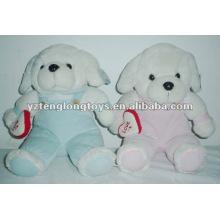 Adorable y lindo con paño suave juguetes de peluche de perro