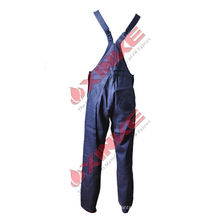 pantalon de travail bleu bavoir