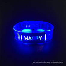 2017 wedding table centerpieces led bracelet with happy letters