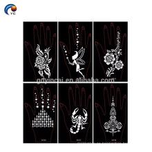 Etiqueta engomada misteriosa de la plantilla de la alheña para la novia, tatuaje de la etiqueta engomada de la alheña en YinCai