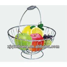 Europe fashionable meatl fruit basket&New fruit tray
