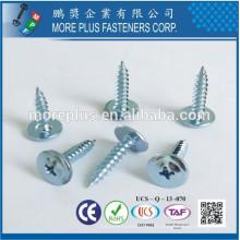Fabriqué à Taiwan Steel Steel M3X10 Black White Zinc Truss Head Self Tapping Screws
