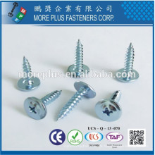 Fabricado em Taiwan Steel Steel M3X10 Black White Zinc Truss Head Self Tapping Screws