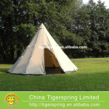 5m Canvas Camping Teepee Tent Waterproof Family Glamping Tent