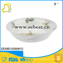 wholesale melamine tableware products 9 inch soup bowl