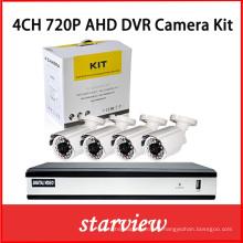 Sistema de cámaras digitales de seguridad de 4 canales Ahd DVR Recorder Kits con 4 cámaras CCTV