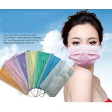 Máscara quirúrgica disponible no tejida 3ply de la máscara de la fábrica