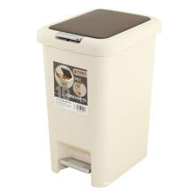 Kreatives Fußpedal und Presse Kombinierter Kunststoff-Abfalleimer (FF-1007)
