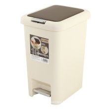 Creative Foot Pedal and Press Combined Plastic Dust Bin (FF-1007)