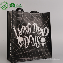 Custom recycle pp woven laminated shopping bag