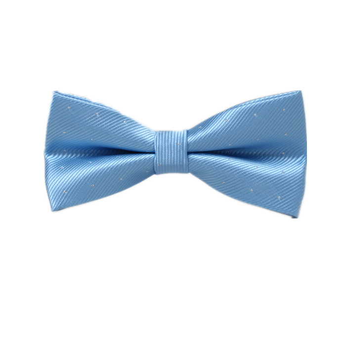 blue necktie with white dot
