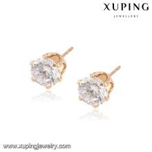 91991 Promotional fashion crystal jewelry gold plated women fancy stud earrings