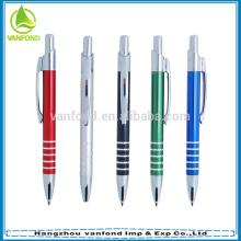 Papeterie de bureau nouveaux produits 2015 personnalisé courts stylos en métal