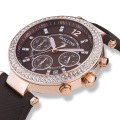 Big Dial Quartz-Watch Ladies Watches, Waterproof Shock Resistant Ceramic Black White Women Watches