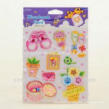 DIY doces crianças dos desenhos animados adesivos de parede decoração