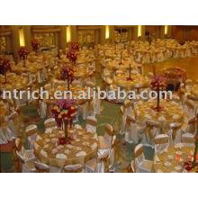Cubiertas de la silla del satén, cubiertas de la silla de hotel, banquete, boda