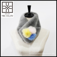 2015 Faux Fur novo design e pele real Mixed Snood