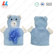 Cute children mesh sponge bath gloves