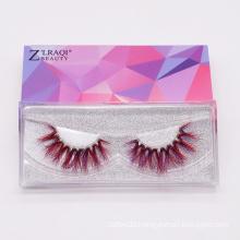 Wholesale Factory Price Eyelashes Colorful Mink Eye Lashes Customized 9D Mink Fur Natural False Eyelash Color Lashes