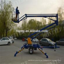 Elevación de la pluma de articulación montada de Towable directo de la fábrica para la venta introducción de las elevaciones de pluma pequeña