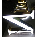 Eletroplating Plated Gold Letter Titanium Illuminated Sign 3D Letter Logo Sign LED Light Letter