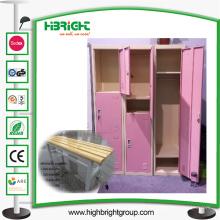 Armário de armário de armazenamento de aço para vestiário